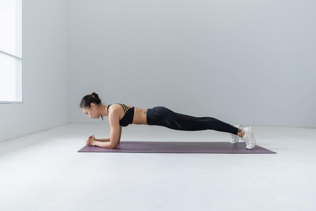 Exercises to tone your belly muscles - plank